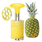 SameTech Coupe-ananas pour éplucher, évider et trancher le fruit, acier inoxydable, outil de cuisine sans effort