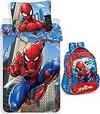 rainbowFUN.de Marvel Spiderman Sac à dos et parure de lit 135 x 200 cm