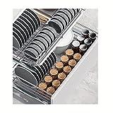 WWWFZS Organisateur d'armoire à tiroir Coulissant - Étagères de Rangement pour armoires de Cuisine coulissantes Robustes, tiroir Coulissant pour Armoire tiroir Coulissant epice (Color:Style 3)