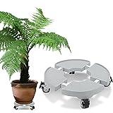 DEWEL Supports de pots à roulettes Support de Pot de Fleurs Réglable et Également Utilisé pour les Réfrigérateurs et les Machines à Laver 30cm-50cm Stent - 200kg