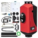 maXpeedingrods 12V 5KW Chauffage Diesel Réchauffeur d'air diesel kit de réchauffeur d'air stationnement 10L LCD Réservoir Diesel pour voiture camions RV Croisières avec silencieux