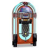 AUNA Graceland XXL II Jukebox Style années 50 (Port USB, Lecteur de Carte SD, entrée AUX, Sortie RCA, Radio FM/AM, Lecteur CD Compatible mp3, éclairage LED)