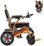 GYPPG Fauteuil Roulant électrique Pliant Fauteuil Roulant léger Tout-Terrain Scooter électrique Double Moteur Power Chair 12A Batterie au Lithium pour Tous Les âges Paraplégie handicapée
