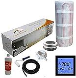 Nassboards Premium Pro - Kit de Tapis de Chauffage Au Sol Électrique Boite Jaune de 200 W - 3.5m² - Thermostat Noir Avec Écran Tactile