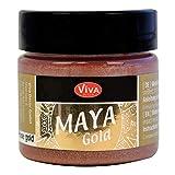 Viva Decor Maya Gold (Or rosé,45ml) Couleur métallique - peinture brillante pour activité créative - peinture acrylique pour bois, carton, béton, papier, toile sur chassis ect…