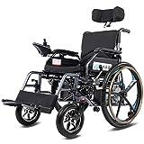 AOLI Fauteuil roulant électrique pliant Fauteuil roulant électrique, électrique pliable Petit mobile Assisted fauteuil roulant, fauteuil roulant puissant à double moteur, Fauteuil roulant pliant moto