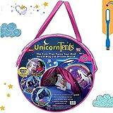 Tente lit Enfant Tente Enfant Tente Kids Play Tents Pop à Bed Tent Castles Cadeaux d'anniversaire Parure de lit Décoration (Licorne)