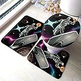 xinping Fantastic Four The Silver Surfer Color Lot de 3 tapis de bain pour salle de bain