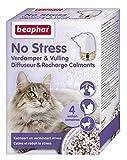 BEAPHAR – NO STRESS – Diffuseur électrique calmant à la Valériane pour chat – Réduit le stress et les problèmes comportementaux sans dépendance ni somnolence – 1 prise + 1 recharge – 4 semaines