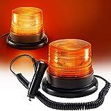 Appow Gyrophare Orange LED, phare d'avertissement clignotant magnétique pour véhicule avec prise allume-cigare 12V-80V