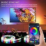 LED TV Ruban Etanche avec APP, Ruban LED RGB 5050 Alimenté par USB, 2.5M Bande Lumineux 16 Couleurs et 4 Modes pour 40'-65' HDTV/PC Monitor [Classe énergétique A++]