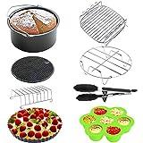 Surophy Accessoire pour friteuse Airfryer - Plaque de cuisson - Support de barbecue avec revêtement anti-adhésif pour XXL 3,2 l Princess, Philips, Tristar