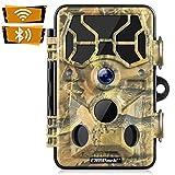 Campark WiFi 20MP 1296P Caméra de Chasse Caméra de Surveillance Étanche 36 LEDs Caméra De Jeu avec Détecteur de Mouvement Vision Nocturne Infrarouge IP66 Etanche