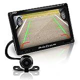 Pyle Système de surveillance d'écran de caméra de voiture de vue arrière de recul - Échelle de distance de stationnement et de marche arrière, vision nocturne, écran couleur LCD de 17,8 cm (PLCM7700)