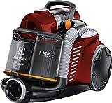 Electrolux Aspirateur sans sac Ultraflex, Système Motion Control, filtre hygiénique 12, 1,6 l Avec brosse mini turbo rouge