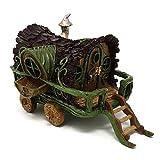 Roulotte/caravane gitane de jardin de conte de fées miniature