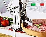 Presse Tomate de qualité Professionnelle en INOX, Grande Taille pour réaliser des sauces et coulis de tomates. Made in Italie. Livré avec Son étau pour Le Fixer à Une Table.