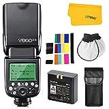 Godox V860II-N TTL Flash pour Nikon Caméra 2,4G sans Fil HSS 1/8000s avec Haute Performance Li-ION Batterie Compatible pour Nikon D800 D700 D7100 D7000 D5200 D5100 D810 D610 D90 D750 etc