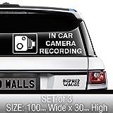 Panneaux autocollants pour voiture vidéo-surveillance Dash Caméra Dashcam (CFTV) Enregistrement pour voiture, van, camion, truck, taxi, bus, mini Cab Sécurité (3 pièces) par Inspired Walls®.