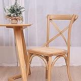 LEMORTH Tabouret en bois rustique,Chaise de salle à manger rétro américaine,chaise en bois cross-arrière dossier de chaise en bois massif,chaise en bois ménagers en bois,for salle de bureaux salle à m