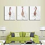 Toile de peinture Bubble Chewing Gum Giraffe Animal Affiches d'Animal Toile Art Peinture Art Arts Pépinière Décor Picture Nordic Style Enfants Salle Décoration (Size (Inch) : 60X90cm No Frame)