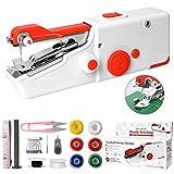Machine à Coudre Portative, Mini Machine à Coudre Électrique Portable pour Adulte, Point Rapide Adapté aux Tissus, Voyage à Domicile Bricolage, Vêtements