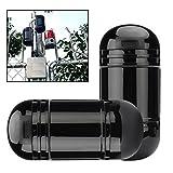 BW Détecteur d'intrusion à double faisceau et alarme, détecteur infrarouge actif extérieur 60 m et intérieur 180 m, portée de détection du faisceau 1,5 m, réglage optique