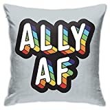 QUEMIN Coton de la Saint-Valentin Linen Ally AF Fun Taie d'oreiller 18X18 Pouces Doux Confortable et Durable Canapé-Lit Chaise Taie d'oreiller Décorative
