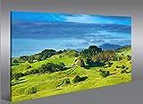 Cadre moderne nouvelle zélande V5prés vallées montagne Nature Paysage Impression sur toile–cadre x fauteuils salon cuisine meubles bureau maison–Photo Format XXL carreaux
