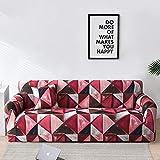 Géométrie Plaid Housse de canapé Housses de canapé Extensibles pour Salon canapé élastique Housse de Chaise canapé Serviette A34 3 Places