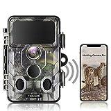 TOGUARD WiFi Bluetooth 20MP 1296P Caméra de chasse avec angle de surveillance de 120 ° avec vision nocturne infrarouge activée par le mouvement Caméra de jeu de dépistage extérieur étanche