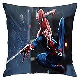NIUPEE Sli8zhen Oreiller orthopédique en mousse à mémoire de forme Spiderman pour douleurs cervicales, oreiller ergonomique pour les personnes dormant sur le dos et sur le ventre 45,7 x 45,7 cm