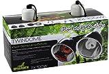 REPTILES PLANET Éclairage Support de lampe Double avec réflecteurs Twindome 14 X H 16 cm