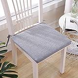 N/A Coussin Mat Solide Couleur Coton et Lin Coussin de Chaise Thicken Maison de Style Japonais (Color : Dark Gray, Size : 40X40X3cm)