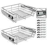 Arebos Tiroir télescopique pour armoires de Cuisine et armoires à encastrer | 30 cm | 40 cm | 50 cm | 60 cm | 2X 50 cm | 2X 60 cm | 2X 60 cm