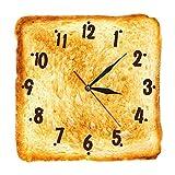Radio Contrôlé Gourmet Décor À La Maison Réaliste Pain Grillé Horloge Murale Signe De Boulangerie Pain Salle À Manger Mur Art Silencieux Quartz Cuisine Horloge Murale 30 Cm
