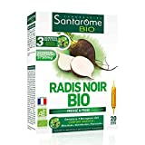 Radis Noir Bio   Complément Alimentaire Foie et Digestion - A base de Radis Noir et Bourgeons Frais   20 Ampoules