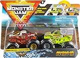 Monster Jam Monster Trucks Officiels Wonder Woman vs. Avenger avec Changement de Couleur à l'échelle 1/64