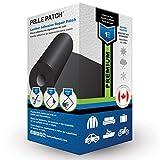 Pelle Patch - Pièce adhésive de réparation de Cuir et Vinyle - 25 Couleurs Disponibles - Premium 10cm x 152cm - Noir