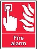 vsafety 13002an-r équipement d'alarme incendie Panneau, 1mm en plastique rigide, Portrait, 150mm x 200mm
