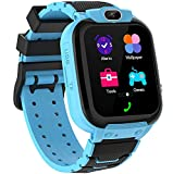 Zeerkeers Montre intelligente pour enfants - Pour garçons et filles - Écran tactile HD - 7 types de jeux - Musique - Téléphone - Appels bidirectionnels - Caméra - Enregistreur vidéo - Alarme