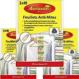 Aeroxon - Papiers Anti-Mites Textiles - 3x20 pièces - Contre Les Mites, Les coléoptères et Les Larves - Protection Anti-Mites pour Vos vêtements dans dans l'armoire
