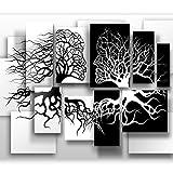 murando Papier peint intissé noir blanc 400x280 cm Décoration Murale XXL Poster Tableaux Muraux Tapisserie Photo Trompe l'oeil Abstrait 3D Arbre Love h-A-0089-a-a
