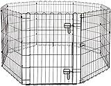 Amazon Basics Enclos Pliant en Métal pour Chiens et Animaux Domestiques 152,4 x 152,4 x 76,2 cm