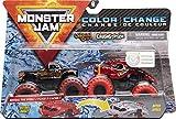 Monster Jam Camions Monstres Officiels Captain's Curse vs. Crushstation à Changement de Couleur, échelle 1/64.
