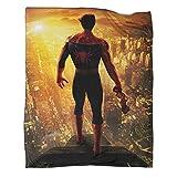 Couverture en peluche douce et confortable Spiderman pour canapé, lit, canapé (150 x 200 cm)