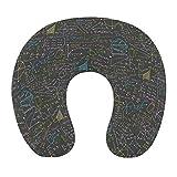 Oreiller de voyage haut de gamme Super doux en forme de U en mousse à mémoire de forme oreiller cervical coussin de tête oreiller support repos extérieur voiture bureau voyage à domicile - formule mat