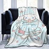 VJSDIUD Couvertures et jetés, Cinn-amoroll Fuzzy Blanket Couverture de Jet Ultra Douce Chaude et légère pour Couchage de canapé 60 'X50
