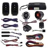 EasyGuard PKE Alarme de Voiture Système avec Verrouillage de proximité déverrouiller à Distance Starter Push Button Start Vibrations Alarme sans clé Start Universel Ec009-t2