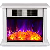 WANGCY Réchauffeur de cuisinière électrique avec Effet de Flamme de brûleur à bûches avec Thermostat réglable Chauffage au Sol de Salon 750 / 1500W